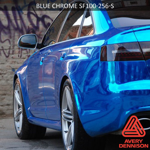 Chrome-blue-wrapping-carwrap-styling