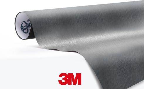 1080-BR201-Brushed-Steel-Geborsteld-Staal - Snelwrapfolie