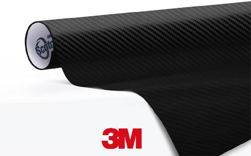 1080-CF12-Carbon-Fiber-Black-Zwart -Snelwrapfolie